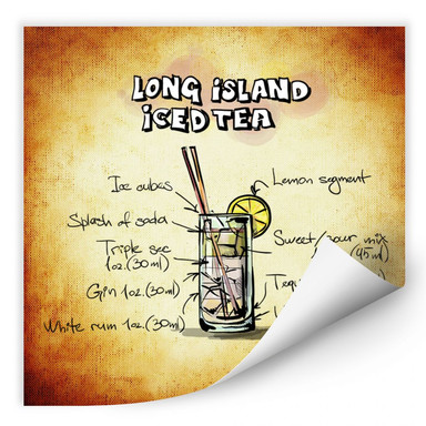 Wallprint Long Island Iced Tea - Rezept
