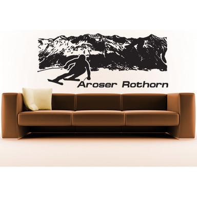 Wohnansicht - Wandtattoo Aroser Rothorn