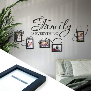 Wandtattoo Family is everything inkl. 5 Bilderrahmen