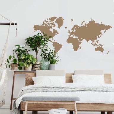 Wandtattoo Weltkarte einfach