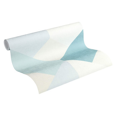 Esprit Vliestapete Afternoon Haze Tapete geometrisch grafisch blau, grau, beige