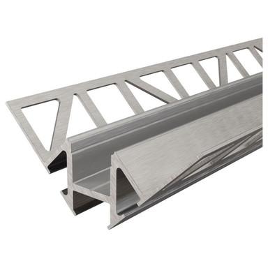 Fliesen-Profil Ecke innen EV-01-12 für 12 - 13.3 mm LED Stripes, Silber-gebürstet, 1250 mm