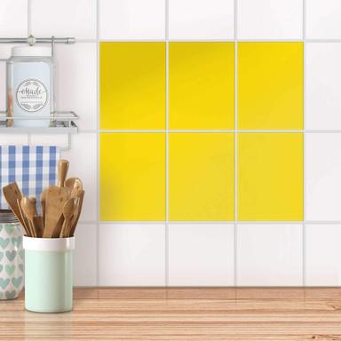 Fliesensticker unifarben - Gelb Dark