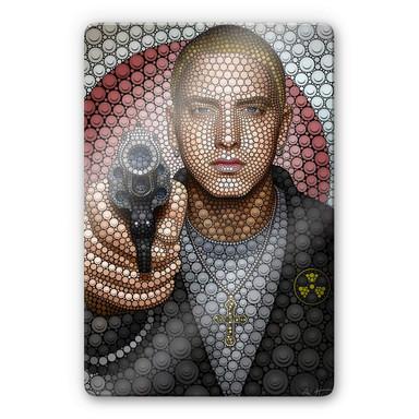 Glasbild Ben Heine - Circlism: Eminem