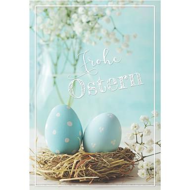 Gutschein Happy Easter - Osternest - hellblau
