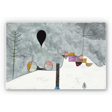Hartschaumbild Klee - Winterbild