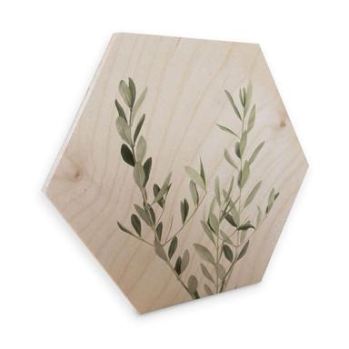 Hexagon - Holz - Sisi & Seb - Olivenzweig