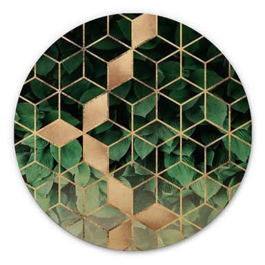 Holzbild Fredriksson - Natur trifft Geometrie - Rund