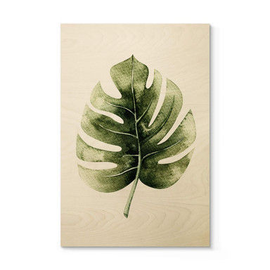 Holzposter Kvilis - Monstera Leaf