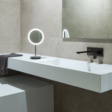 LED Kosmetikspiegel Maganda in Chrom und Transparent 4.8W 51lm IP44