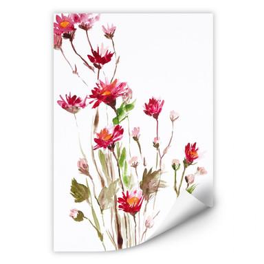 Wallprint Illustrierte Wildblume