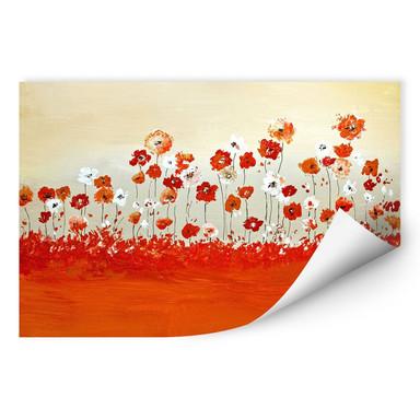 Wallprint Melz - Fröhliche Blumen