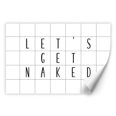 Wallprint mit Raster - Let's get naked