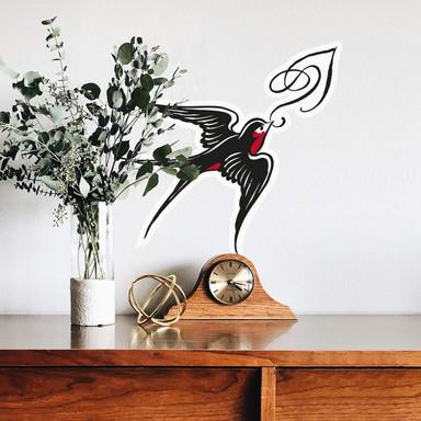 Wandsticker Miami Ink Schwalbe mit Ornament
