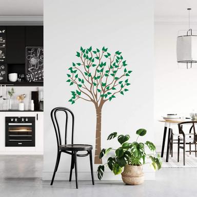 Wandtattoo Schlanker Baum (2-farbig)