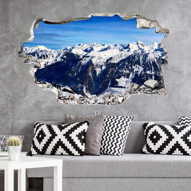 3D Wandtattoo Alpenpanorama