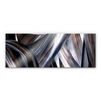 Acrylglasbild Niksic - Pinselstreifen 02 - Panorama