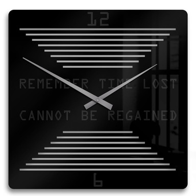 Acrylglasbild Remember time lost Uhr