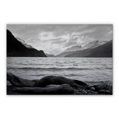 Alu Dibond Bild Log and Lake