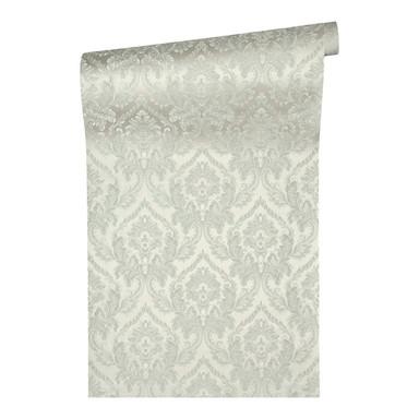 Architects Paper Textiltapete Di Seta Tapete mit Ornamenten barock grün, hellgrün, metallic
