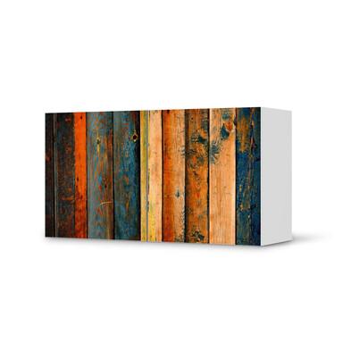 Folie IKEA Besta Regal 2 Türen (quer) - Wooden