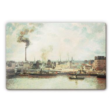 Glasbild Pissarro - Quai de Saint-Sever in Rouen