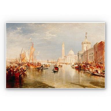 Hartschaumbild Turner - Venedig, Dogana und S. Giorgio Maggiore
