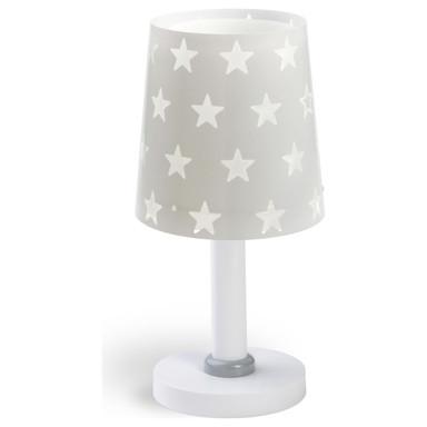 Kinderzimmer Tischleuchte Stars in Grau E14