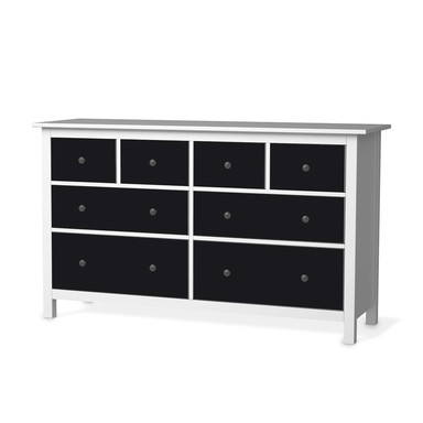 Möbelfolie IKEA Hemnes Kommode 8 Schubladen - Schwarz