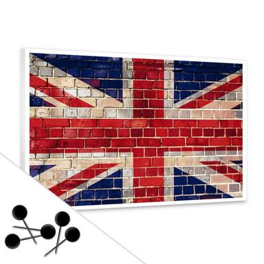 Pinwand Union Jack inkl. 5 Pinnadeln