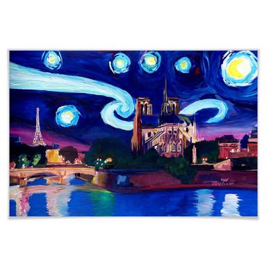 Poster Bleichner - Paris bei Nacht