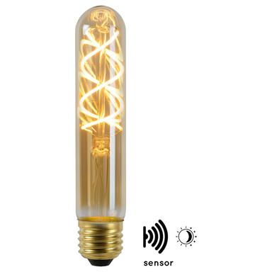 Vintage LED Lampe, Dämmerungssensor, E27. Röhre T32. Filament, 4W, 230lm, 2200K Energieklasse A&