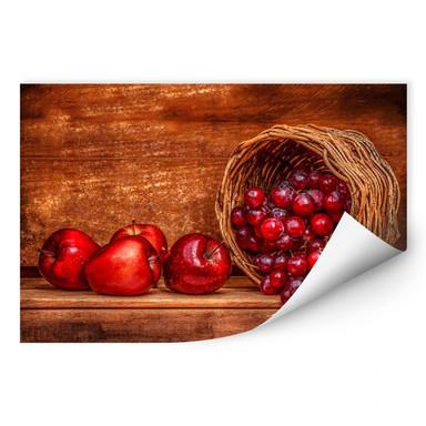 Wallprint Perfoncio - Rote Früchte