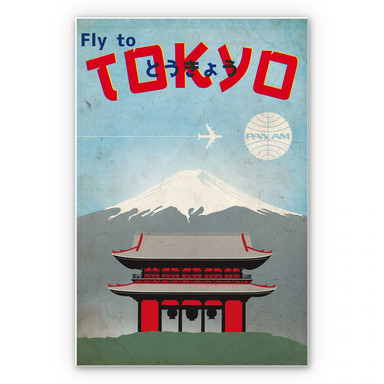 Wandbild PAN AM - Fly to Tokyo