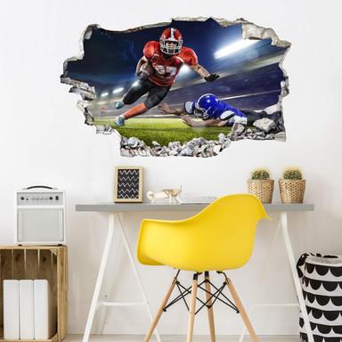 3D Wandtattoo American Football Spieler 01