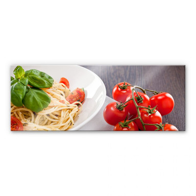 Acrylglasbild Pasta Italiano - Panorama