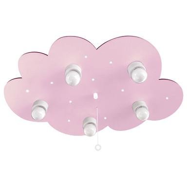 Fünfflammige Kinderzimmer Deckenleuchte Wolke, rosa, E14
