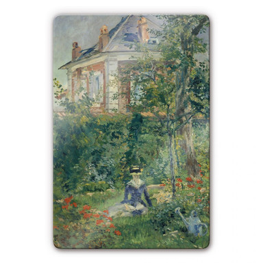 Glasbild Manet - Marguerite im Garten von Bellevue