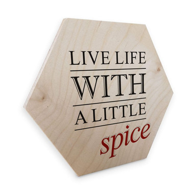 Hexagon - Holz Birke-Furnier - Live life whith a little Spice