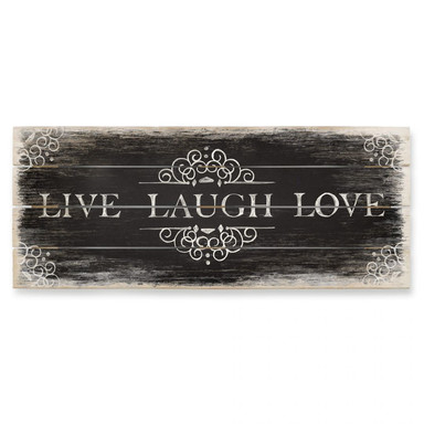 Holzbild Live Laugh Love 02 - Panorama