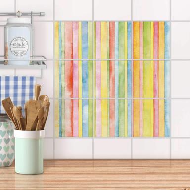 Klebefliesen - Watercolor Stripes- Bild 1