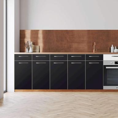 Küchenfolie - Unterschrank 200cm Breite - Schwarz