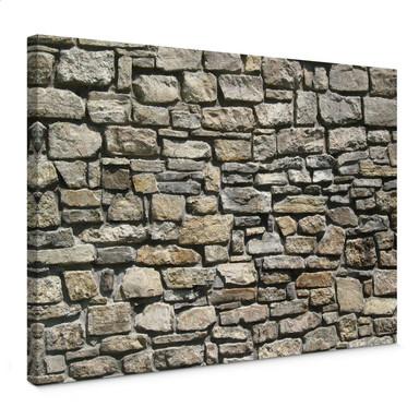 Leinwandbild Natursteinmauer