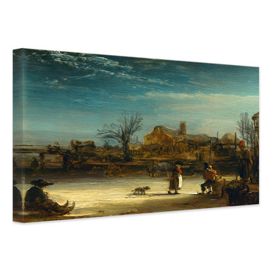 Leinwandbild Rembrandt - Winterlandschaft