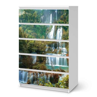 Möbel Klebefolie IKEA Malm Kommode 6 Schubladen (hoch) - Rainforest- Bild 1