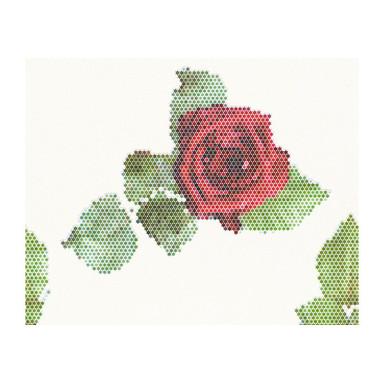 Mustertapeten Lars Contzen Tapete Rendez-vous Roses Weiss, Grün, Rot