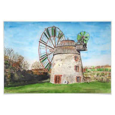 Poster Toetzke - Holländerwindmühle