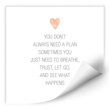Wallprint Confetti & Cream - You don't always need a plan