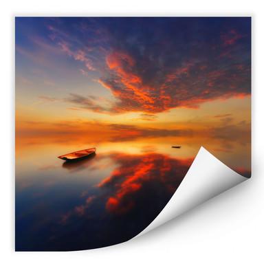 Wallprint Krol - Ein leuchtender Sonnenuntergang - quadratisch