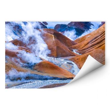 Wallprint Vulkanisches Bergland Islands